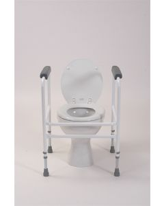 Toilet Surround with Padded Arms - Adjustable Height