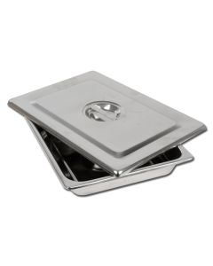 S/S Instrument Tray with Lid - 355 x 254 x 50mm