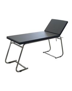 Chrome Examination Couch and Accessories