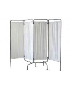 4 Panel Wing Screen with Curtains