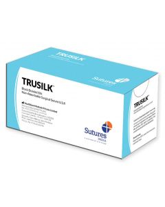 Trusilk Non Absorbable Surgical Suture - Black Braided Silk (12)