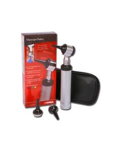 Parker Otoscope - Black Model with Rechargeable Handle and Bayonet Connection System [Code: 31441]