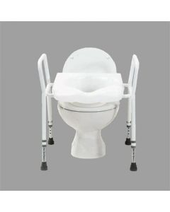 Raised Toilet Seat Frame with Comfort Seat