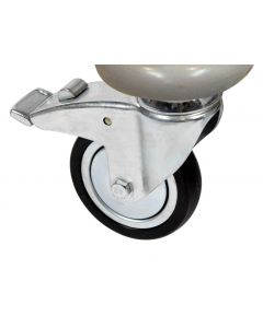 4 Anti-Static Castors (front two braked) for Vista 10 Trolley