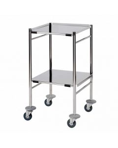 Dressing Trolley - Stainless Steel Shelves - Mirror Polished