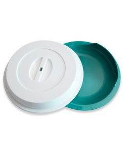 Harfield 24cm Assisted Living Plate with White Cover - Polypropylene
