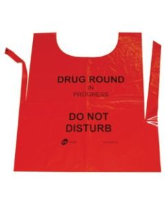 Disposable Red Drug Round Tabard / Apron (250)