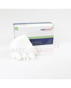 Medguard White Nitrile Powder Free Exam Glove