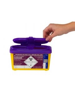 Daniels Purple Sharpsguard Cytoxic Container 1L
