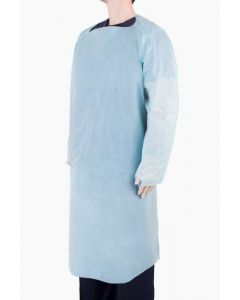 CASE I/W Disposable 40g Long Sleeve Waterproof CPE Isolation Gowns with Thumb Hole (10 x 10)