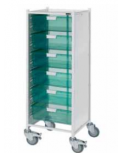 Vista 120 Trolley with 6 Double Trays