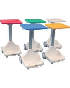 Open Type Plastic Pedal Bin- Wheels