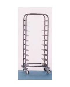 10 Tray Black Clearing Trolley