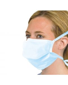3 Ply Type IIR Fluid Resistant Surgical Face Mask with Ties (50)